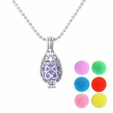 1Pc Hollow Teardrop Locket Perfume Fragrance Oil Aromatherapy Diffuser Necklace