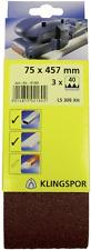 Schleifband 75x457/Korn-60 Klingspor 3er Pack