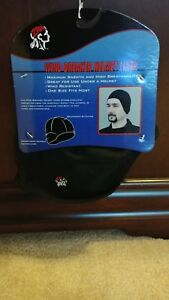 SOLID BLACK FLEECE HELMET LINER BY ZAN HEADGEAR WHLW114 WIND BREAKER