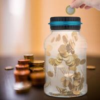 Piggy Bank Large Digital LCD Pound Coin Counter Saving Jar Money Box NEW