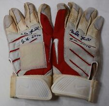 MIKE LOWELL GAME USED AUTOGRAPHED SIGNED 2010 BATTING GLOVES BOSTON RED SOX