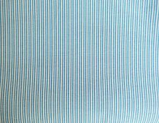 TURQUOISE WHITE LEMON PIN STRIPE HEAVY POLY/COTTON 150cm FABRIC MATERIAL  per/mt