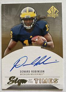 Denard Robinson Signed 2013 UD Sign of the Times #ST-ER