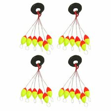 4 Pcs Yellow Red Plastic 6 in 1 Fishing Bobber Stopper Sz 3 CT K5V4 O7A2 D8F6