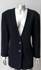 Michael Kors Bergdorf Goodman Plunging Wool Black 2 Piece Trousers Crepe Suit M