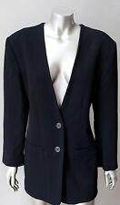 Michael Kors Bergdorf Goodman Plunging Wool Black 2 Piece Trousers Crepe Suit M