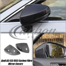 NEW audi A3 S3 2013 on carbon fibre wing mirror covers left and right pair