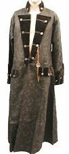Heavy Gothic Raven Brocade Pirate Jacket With Chain Compass Ra6cg L