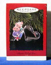 Hallmark Keepsake Christmas Ornament 1996 Hearts Full Of Love mice bubble