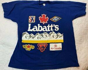 Vintage Labatt Blue Tshirt Canadian Ski Canada Whistler Blackcomb Men's Size XL