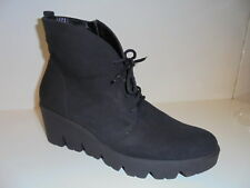 317802 Waldläufer Damenschuhe Boots Stiefelette Leder schwarz UK 7 Gr. 40,5