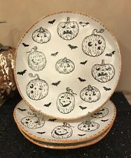 "inHomestylez ""Jack O' Lantern"" Fall/Halloween DINNER Plates (SET OF 3)"