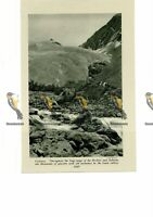 Old Moraines in Lower Valleys, Canada, Book Illustration, c1920