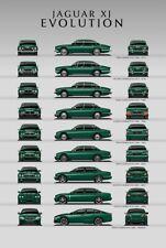 Jaguar XJ Evolution Wall Art Poster Brochure Picture Print A3 Size