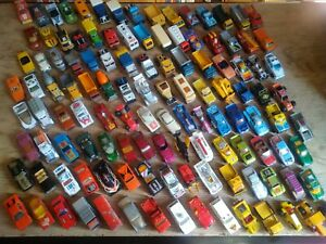 Job lot of 125+ matchbox cars, trucks,from 60-80`s,vintage,old,used condition