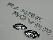 RANGE ROVER EVOQUE CHROME DIAMANTE SUPERCHARGED FRONT BACK GRILL TAILGATE BADGE