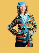 Aztec Wrap Jacket Knitting Pattern Copy Ladys Cardigan Boho Ethnic Peruvian Folk