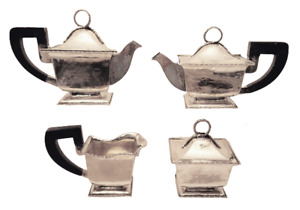 4-Piece Italian Silver Bachelor Tea / Coffee Set