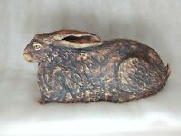 Studio ceramic sculpture of Hare laying down