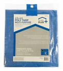 Home Plus  4 ft. W x 6 ft. L Light Duty  Polyethylene  Tarp  Blue