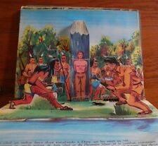 POP UP DAVY CROCKETT livre animé relief Les COWBOYS  INDIENS  Walt Disney