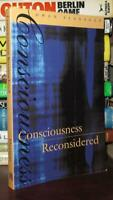 Flanagan, Owen CONSCIOUSNESS RECONSIDERED  1st Edition Thus 3rd Printing
