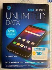LG Phoenix Plus 16GB AT&T Prepaid Smartphone Black