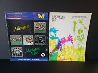 1968 Michigan vs Michigan State & 1969 Michigan Football Programs Lot of 2