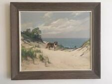 Charles Vickery Large Oil on Board Michigan Dunes Nice Listed
