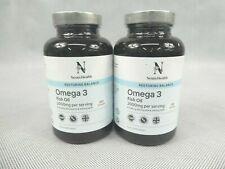 2x Nesta Health Omega-3 Fish Oil Capsules Food Supplement 2000mg per Serving New