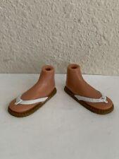Bratz Girlz Girl (Sun-Kissed Cloe Doll) Sandals Brown & White Flip Flop Shoes