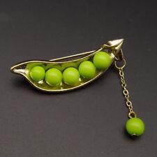 Fashion Green Bean Pea Collar Pin Pearl Brooch Pin Scarf Buckle Wedding Jewelry