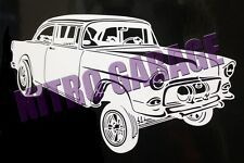 `55 CHEVY GASSER STICKER, DRAG CAR,PSCA,ADRL,NMCA,PRO MOD,NHRA