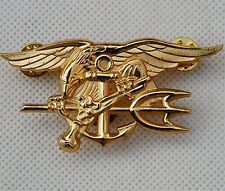 US Navy Seal Eagle Anchor Trident Mini Medal Uniform Insignia Badge Gold- US013