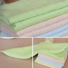 4pcs Bamboo Fiber #d Small Towels Kids Face Towel Wash Cloths Grooming Hand Spa