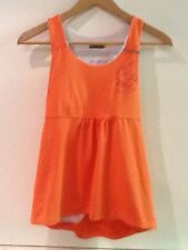 Novara Womens Bike Jersey Tank Top Rear Pockets Orange Size XS Extra Small