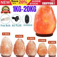 Natural Himalayan Salt Lamp Rock Shape Crystal Lamp Dimmer Switch Night Light AU