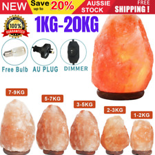 Natural Himalayan Salt Lamp Rock Shape Crystal Lamp Dimmer Switch Night Light AU
