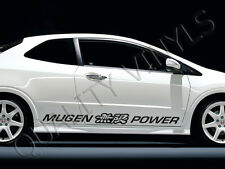 P7 honda civic mugen power logo turbo charged evo graphics decal stickers