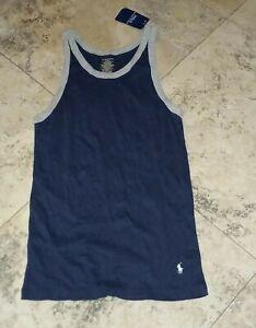 New Polo Ralph Lauren Men's Tank Top Sleepwear Loungewear XL Blue