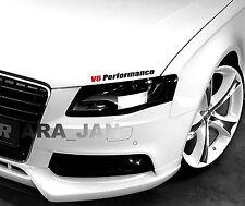 V6 PERFORMANCE Racing Hood Decal Stickers sport car logo emblem sticker BLACK/R