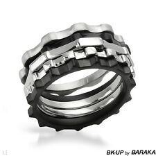 BK-UP BY BARAKA Made in Italy Charming Brand New Ring Made in Stainless steel