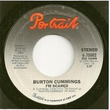 BURTON CUMMINGS 45  I'm Scared / Sugartime Flashback Joys - NM
