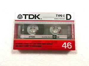 TDK D 46 vintage audio cassette blank tape sealed Made in Japan Type I