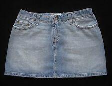 BKE Buckle sz 27 Denim Skirt Blue Jean Mini Light Wash Distressed Harbor BKL331