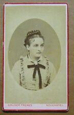 Foto CDV 1878 - Fotog. Bruder - Donna cn perle