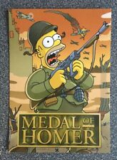 "Homer Simpson ""Medal Of Homer"" Promotional Postcard from 2007 - The Simpson Game"