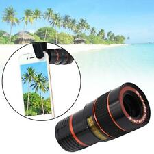 Black 8x Zoom Adjustable Focus Telescope Camera Lens Clip-On for Cell Phone #k