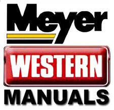 MEYER & WESTERN E60 Quik-Lift Snow Plow Snowplow Install SERVICE OWNERS MANUALS
