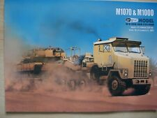 1:25 US M1070 tractor with M1000 trailer and M1A2 Abrams tank  paper models